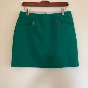 H&M Green mini skirt